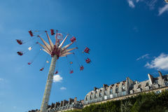 A summer funfair  in the Tuileries Gardens, in the center of Par. PARIS , FRANCE - JULY 3, 2017 : Every year at the beginning of the summer, a funfair takes Stock Photography