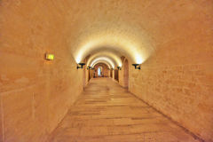 PARIS, FRANCE - JULY 05, 2016 :  Inside the crypts (underground) Royalty Free Stock Images