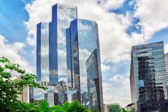 PARIS, FRANCE - JULY 06, 2016 :La Defense, Business Quarter with Royalty Free Stock Photography