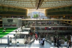 Le forum des Halles a modern shopping mall in central Paris France. Paris France, 14 July 2018: Le forum des Halles a modern shopping mall in central Paris stock images