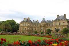 PARIS, FRANCE - July, 2017: Luxembourg Palace and Garden in Paris.  stock photos