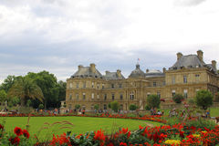 PARIS, FRANCE - July, 2017: Luxembourg Palace and Garden in Paris.  royalty free stock images