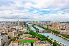 PARIS, FRANCE - JULY 01, 2016 : Panorama of Paris view from the Royalty Free Stock Photos