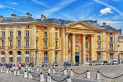 PARIS, FRANCE - JULY 08, 2016 : Pantheon-Sorbonne University , a. Lso known as Paris 1, is a public research university in Paris, France royalty free stock photos