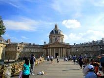 Paris, France: July 2014 -Paris Bridge's Pont des Arts Love Lo Royalty Free Stock Image