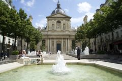 PARIS, FRANCE, 12 JULY, 2014- Paris-Sorbonne University Stock Images