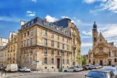 PARIS, FRANCE - JULY 08, 2016 : Saint-Etienne-du-Mont is a churc Stock Photography