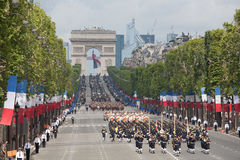 Paris, France - July 14, 2012. Soldiers from the French Foreign Legion march during the annual military parade . Stock Photos