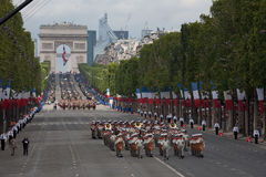Paris, France - July 14, 2012. Soldiers from the French Foreign Legion march during the annual military parade . Royalty Free Stock Photos