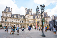 PARIS, FRANCE - July 31 : Tourists on foot Graben Street view ar Royalty Free Stock Image