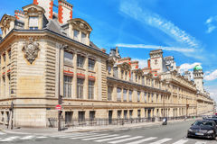 PARIS, FRANCE - JULY 08, 2016 : University of Paris (Universite. De Paris), metonymically known as the Sorbonne , was a university in Paris, France royalty free stock images
