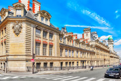 PARIS, FRANCE - JULY 08, 2016 : University of Paris (Universite. De Paris), metonymically known as the Sorbonne , was a university in Paris, France stock photography
