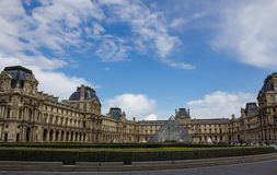 View of Louvre museum Stock Images