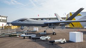 Wing Loong II uav drone Royalty Free Stock Photo
