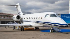 Gulfstream G-280 business jet plane Royalty Free Stock Photo