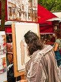 PARIS, France - June 2008 - Bohemian painter in th Stock Photo
