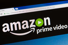 Paris, France - June 05, 2017 : Amazon Prime Video HomePage of Website. Amazon, is an American electronic commerce. To expand its. Business, amazon has created royalty free stock images