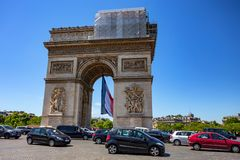 PARIS, FRANCE - JUNE 2014: Arc de Triomphe Royalty Free Stock Photos