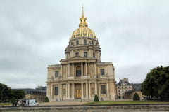 PARIS, FRANCE- JUNE 7, 2011: The classical building of  Les Invalides cathedral dome in Paris Stock Image