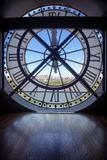 Famous clock in the Orsay Museum Stock Images