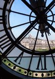 Famous clock in the Orsay Museum Stock Image