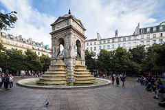 Paris, France - June 23, 2014: Fountain Of The Innocents. Royalty Free Stock Photography