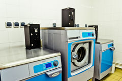 Paris, France - June 02 2011: Industrial washing machines in a p. Rivate residence stock photo