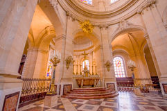 Paris, France June 1, 2015: Inside Church of Notre Dame in Versailles, beautiful arches and interior Royalty Free Stock Image