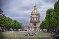 PARIS, FRANCE - June 6, 2020 : Les Invalides, the National Residence of the Invalids in Paris France