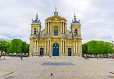 Paris, France June 1, 2015: Outside beautiful Church of Notre Dame in Versailles Royalty Free Stock Image