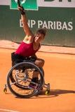 PARIS, FRANCE - JUNE 8, 2019: Roland Garros woman doubles wheel stock photo