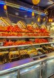 Paris, France, June 2019: a seafood restaurant stock images
