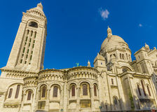 Paris, France June 1, 2015: Spectacular Basilica of the Sacred Heart located in Montmarte Stock Image