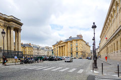 PARIS, FRANCE - June 26 : Tourists on foot Graben Street view a royalty free stock photography