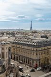 Paris, France, le 29 mars 2017 : Belle vue panoramique de Paris de Tour Eiffel Photographie stock libre de droits