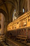 Paris, France, le 27 mars 2017 : L'intérieur du Notre Dame de Paris Image libre de droits