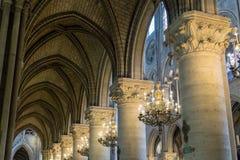Paris, France, le 27 mars 2017 : L'intérieur du Notre Dame de Paris Photographie stock