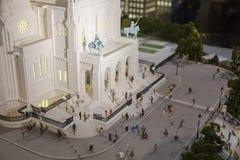 Paris, France, le 26 mars 2017 : La basilique du coeur sacré du modèle d'échelle de Paris Photographie stock libre de droits