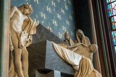 Paris, France, le 27 mars 2017 : La statue à l'intérieur de Notre Dame de Paris Images stock