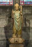 Paris, France, le 27 mars 2017 : La statue à l'intérieur de Notre Dame de Paris Photographie stock