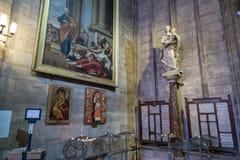 Paris, France, le 27 mars 2017 : La statue à l'intérieur de Notre Dame de Paris Photo stock