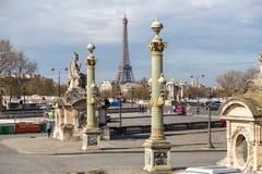 Paris, France, le 28 mars 2017 : Place de la Concorde le jour d'été à Paris, France Photographie stock libre de droits