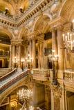 Paris, France, le 31 mars 2017 : Vue intérieure de l'opéra De national Paris Garnier, France Il a été construit à partir de 1861  Images stock