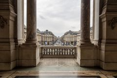Paris, France, le 31 mars 2017 : Vue intérieure de l'opéra De national Paris Garnier, France Il a été construit à partir de 1861  Photo libre de droits
