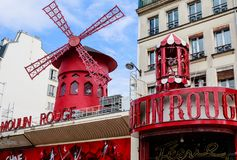 Paris, France Le Moulin rouge est un cabaret célèbre construit en 1889 Photo stock