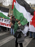 Paris, France, Libya Demonstration, Stock Image