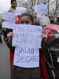 Paris, France, Libya Demonstration, Stock Photos