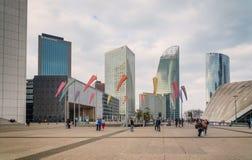 Paris france Losu Angeles Obrończy dzielnica biznesu z drapacz chmur zdjęcie stock