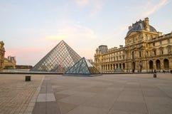 Paris (France). Louvre museum in the sunrise Stock Image