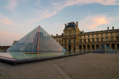 Paris (France). Louvre. Pyramid Royalty Free Stock Images